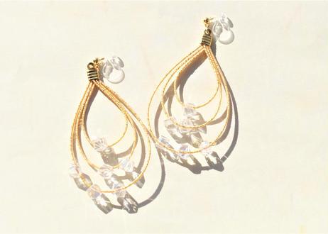 金沢水引とシェルパールの小枝ヘッドドレス Mizuhiki and Shell Pearls Twig Headdress