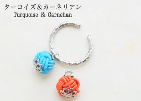 色デザイナーの金沢水引のイヤーカフ ~ シルバー ~ The Colorist's  Mizuhiki Ear Cuffs - Silver
