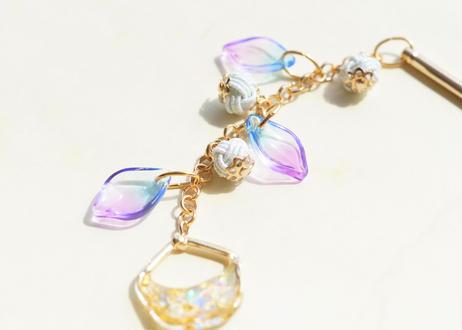 金沢水引と純金箔の木の実なかんざし・帯飾りの2way Japanese hairpin with Mizuhiki & Gold Leaf - 2Way