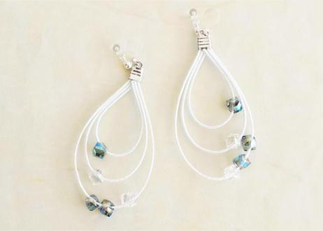 金沢水引と淡水パールの小枝ヘッドドレス Mizuhiki and Freshwater Pearls Twig Headdress