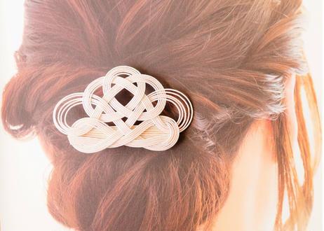 金沢水引のティアラ風ヘアクリップ Mizuhiki Hair Clip - Tiara