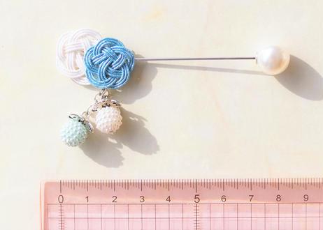 金沢水引と揺れるつぶつぶパールのヘアバトン Mizuhiki and the Swaying Pearl Hair Baton