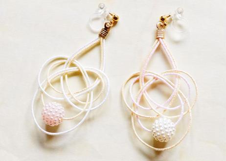 金沢水引の夢みごこち耳飾り Mizuhiki's dreamy earrings