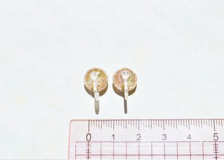 色デザイナーの純金箔きまぐれ耳飾り ~ ゴールド ~ The Colorist's Improvised Pure Gold Leaf Earrings - Gold