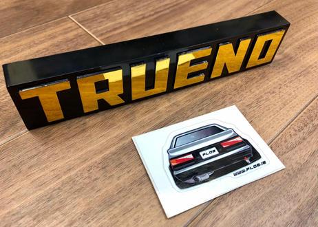 Flo's AE86  スプリンタートレノ エンブレム バッジ(ブラックリミテッド仕様)