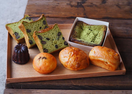 おまけ付き嵐山庭園堪能セットpart2(ECサイト限定抹茶のムー(黒豆入り)嵐山庭園限定パン、抹茶フレンチトーストの詰め合わせセット)