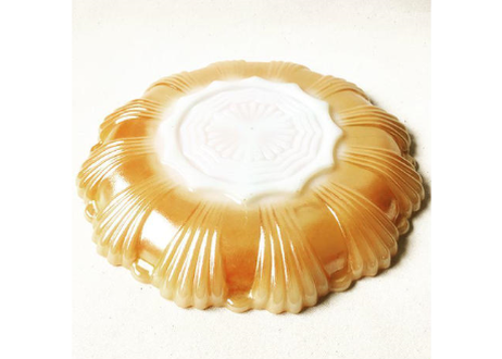 Vintage ''Fire King'' Peach Lustre Divided Relish Plate