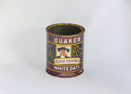 【Vintage】 Quaker Oats Tin Can