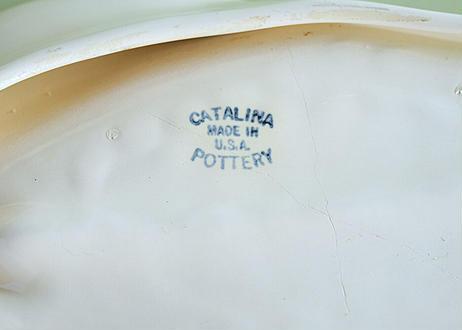 【Vintage】 CATALINA Pottery FRANCISCAN Floral Leaf Bowl