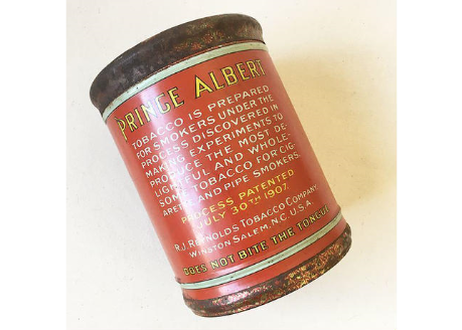 "U.S.A. Vintage ""PRINCE ALBERT"" Pipe and Cigarette Tobacco Tin Can."