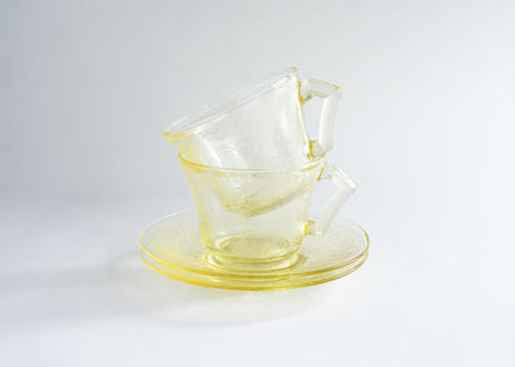 "【Vintage】Hazel Atlas  ""Florentine #2(Poppy)"" Cup & Saucer"