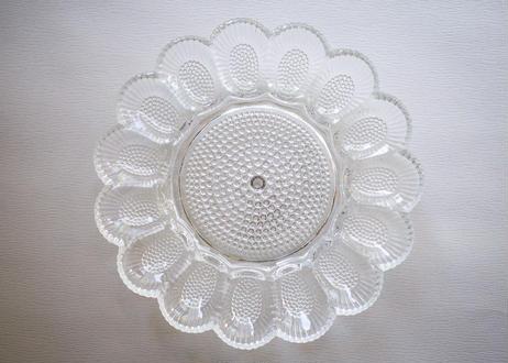 U.S.A.Vintage ''INDIANA GLASS'' Hobnail Egg Relish Plate(Clear)