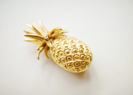 Vintage U.S.A.  Pineapple Brooch