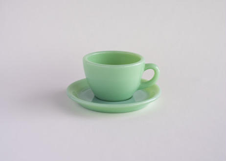 【Vintage】 Fire King Extra Heavy Cup & Saucer