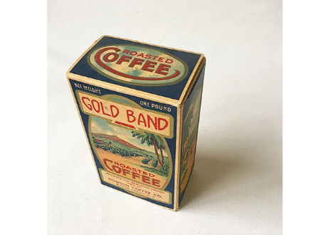"U.S.A. Vitage Coffee Box ""GOLD BAND COFFEE"" Package"