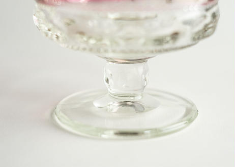 【Vintage】Tiffin King's Crown Ruby Flashed Compote