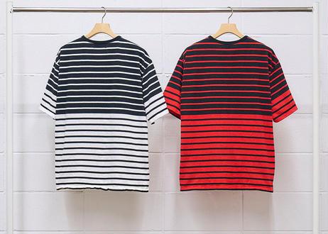 s/s two-tone border t-shirt