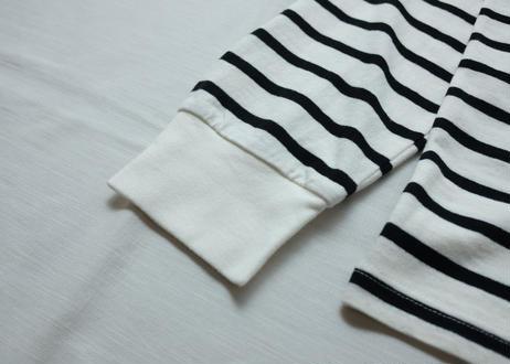l/s two-tone border t-shirt