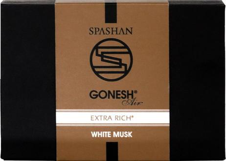公式ステッカー付  スパシャン × ガーネッシュ No.8  / WHITE MUSK 芳香剤 SPASHAN×GONESH コラボ  ブラック ゴールド GONESH SPASHAN ホワイトムスク