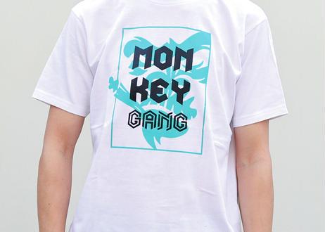 公式ステッカー付 モンキーギャング Tシャツ A スパシャン M L XL XXL  洗車 SPASHAN  MONKEY GANG