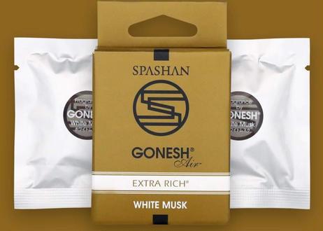 公式ステッカー付  スパシャン × ガーネッシュ 詰め替え用 2個入 No.8 / WHITE MUSK /Super Lychee リフィル 芳香剤 SPASHAN×GONESH コラボ
