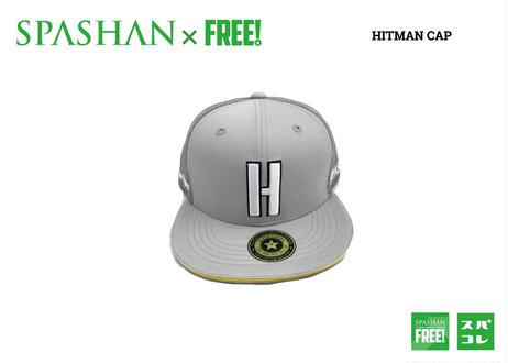 公式ステッカー付 SPASHAN × HITMAN CAP グレー スパシャン × ヒットマンキャップのコラボ帽子