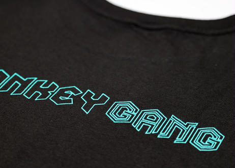 公式ステッカー付 モンキーギャング Tシャツ  G スパシャン M L XL XXL  洗車 SPASHAN  MONKEY GANG