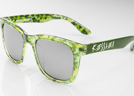 KESSLER EYEWEAR サングラス No.10 CAMO GREEN UV・偏光レンズ ケスラー SPASHAN スパシャン