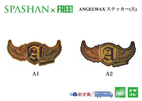 ANGELWAX ステッカー (大) A1 / A2 ゴールド×ブラック スパシャン 洗車 SPASHAN エンジェルワックス