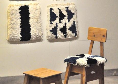 結び織りノッティング(風車):小椅子サイズ