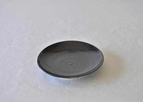 紺飛鉋8寸皿