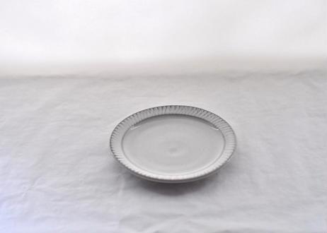 白飛鉋リム皿 Φ19