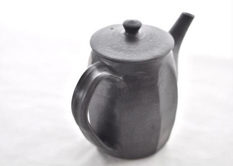 面取ティーポット(黒釉)
