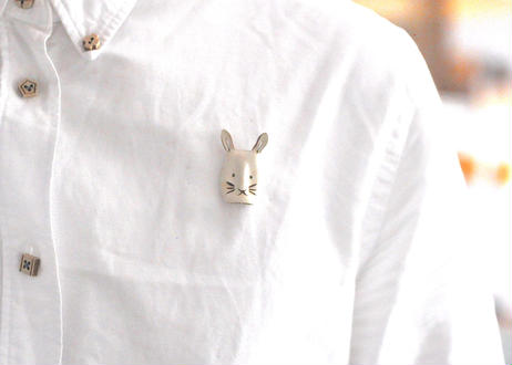 鳥取郷土玩具 お面PIN