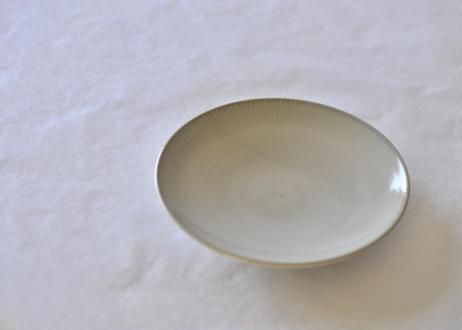 白飛鉋平皿6寸