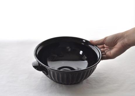 黒釉しのぎ鉢(小)