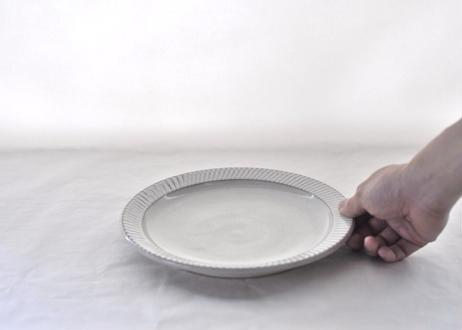 白飛鉋リム皿 Φ23