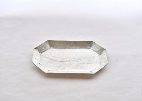 純錫長八角皿
