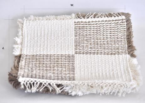結び織りノッティング(三角ストライプ)