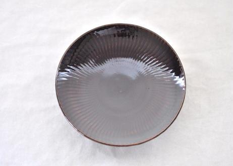 黒飛鉋平皿5寸