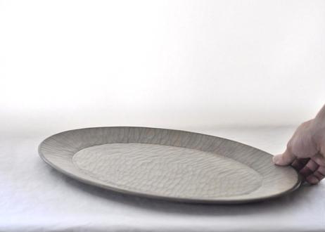 オーバル皿 白漆仕上げ