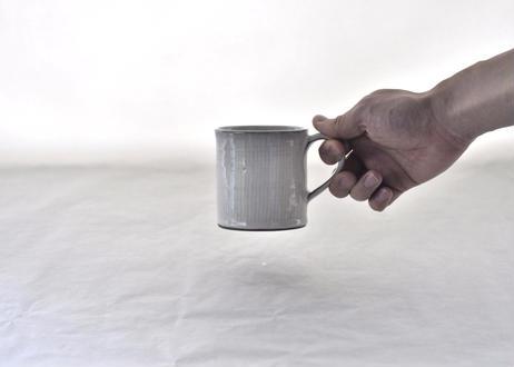 白飛鉋マグカップ(切立)