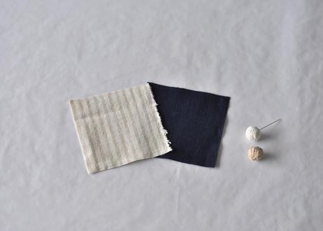 刺し子コースターセット(刺し子糸 / 生成・梅)