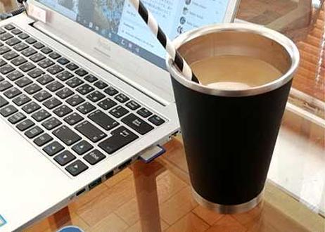 CFY-GS1   thermo mug コーヒータンブラー350ml (silver/black)
