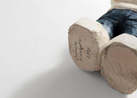 猪原秀陽 大きい木彫りのバッドアニマルズ フィギュア 3体セット