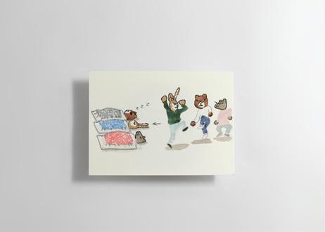 猪原秀陽 漫画の絵・ダンス 原画 小 A6 簡易額装付き