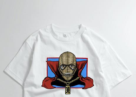 [キャンセル分再販] ショルダー肩美 「謎の男」 Tシャツ ホワイト&ブラック