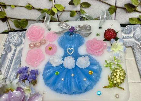 送料無料 アロマワックスサシェ  青いドレスのレディ