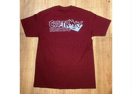 """""""DRINK ALL DAY"""" TEE    BURGUNDY"""