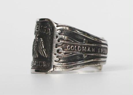 """Cigar label"" Silver ring / La Venga"